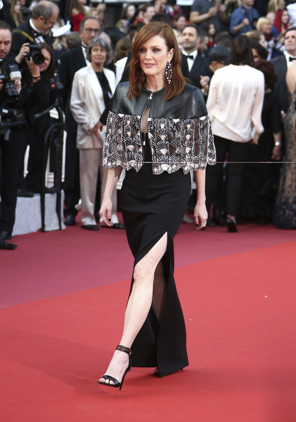 Julianne Moore poses for photographers upon arrival at the premiere of the film 'Les Miserables' at the 72nd international film festival, Cannes, sout