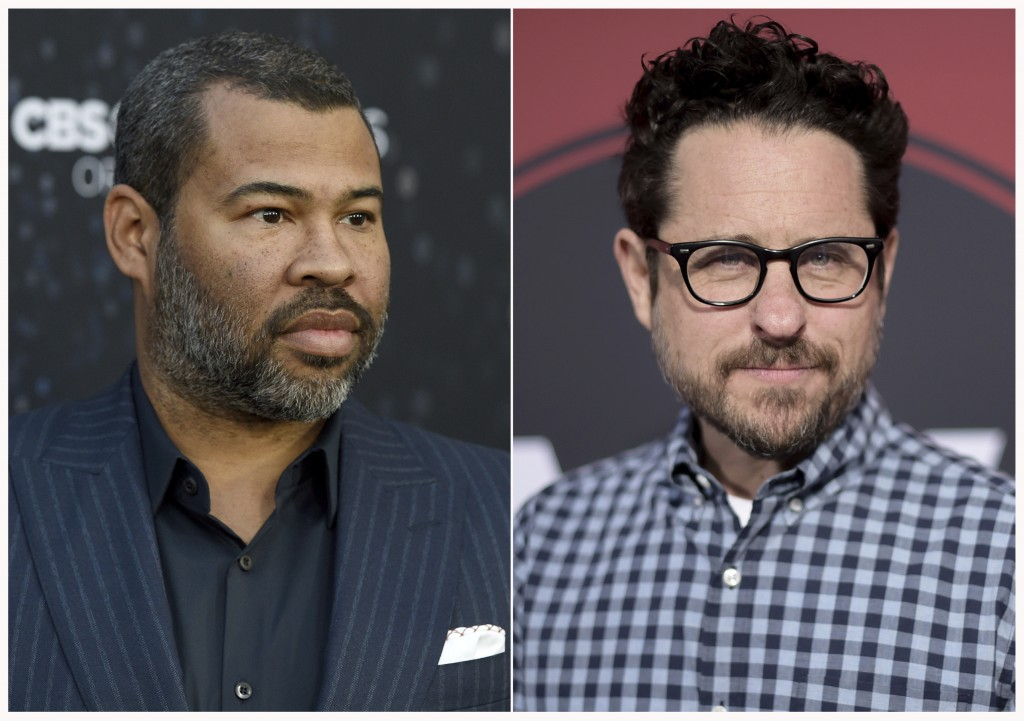 "This combination of photos shows  Jordan Peele at the Los Angeles premiere of ""The Twilight Zone"" on March 26, 2019, left, and J.J. Abrams at the Los"