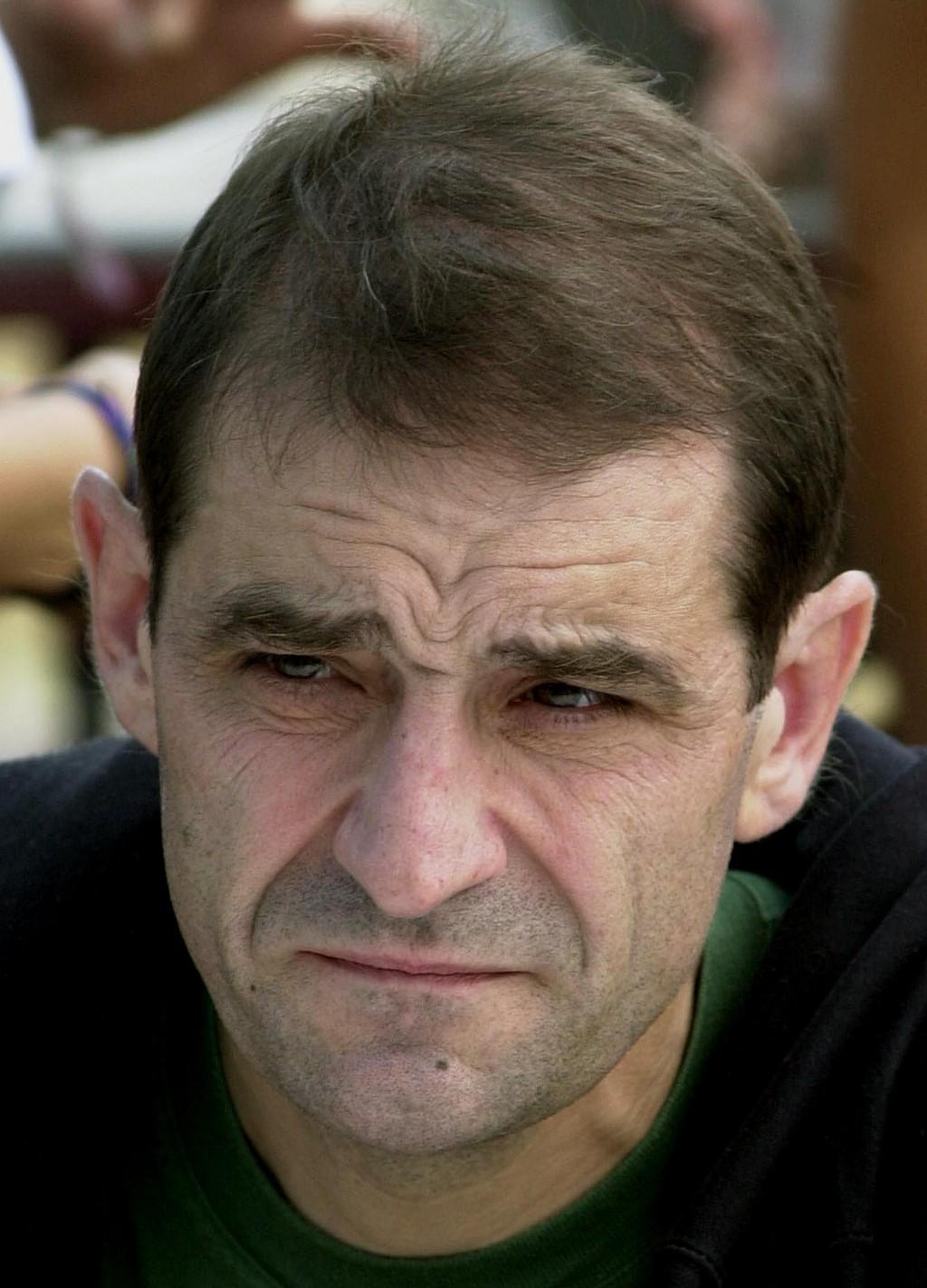 FILE - In this Sept.3, 2000 file photo, Jose Antonio Urruticoetxea Bengoetxea, known by the alias Josu Ternera, a leader of the Basque separatist grou