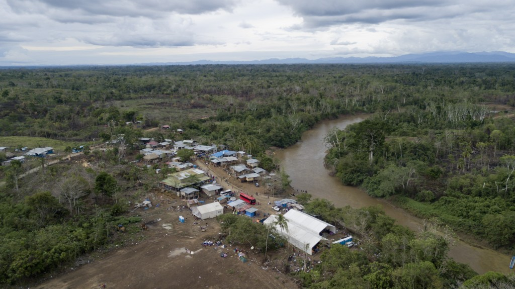 This May 10, 2019 photo, shows the indigenous vill...
