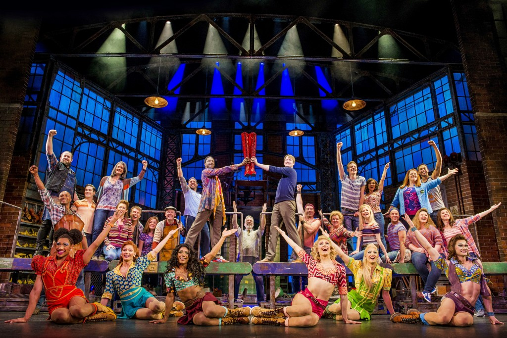 "This image released by Fathom Events shows the cast during a performance of the musical ""Kinky Boots."" Fathom Events plans to show a performance from"