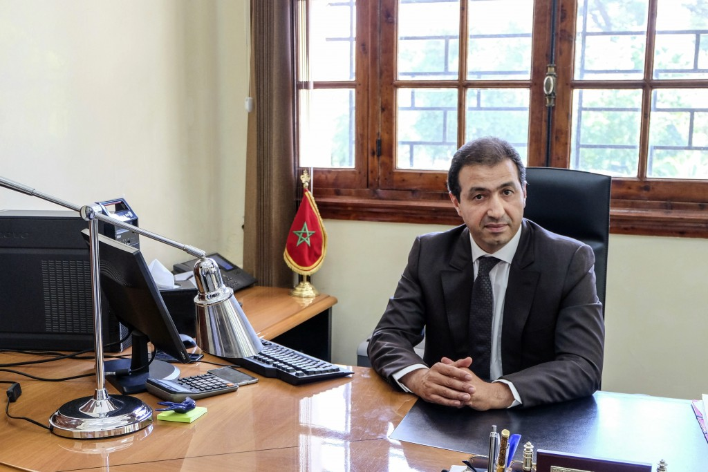 Khalid Zerouali, director of Migration and Border Surveillance in Morocco's Interior Ministry, poses for a photo during an interview with the Associat