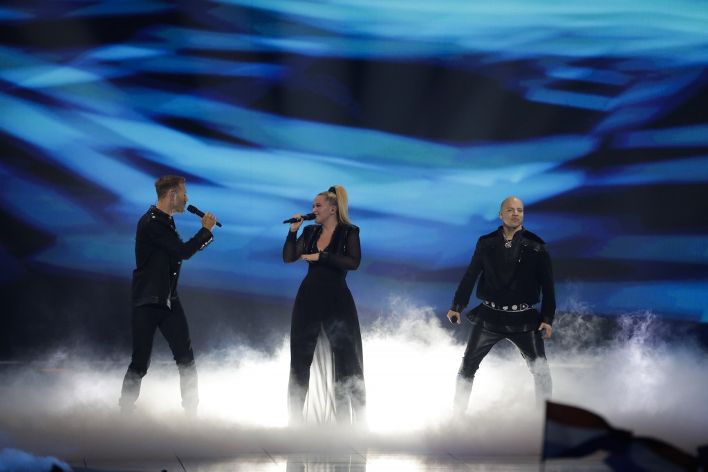 KEiiNO of Norway performs during the 2019 Eurovision Song Contest second semi-final in Tel Aviv, Israel, Thursday, May 16, 2019. (AP Photo/Sebastian S