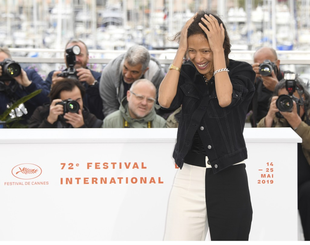 Director Mati Diop poses for photographers at the photo call for the film 'Atlantique' at the 72nd international film festival, Cannes, southern Franc