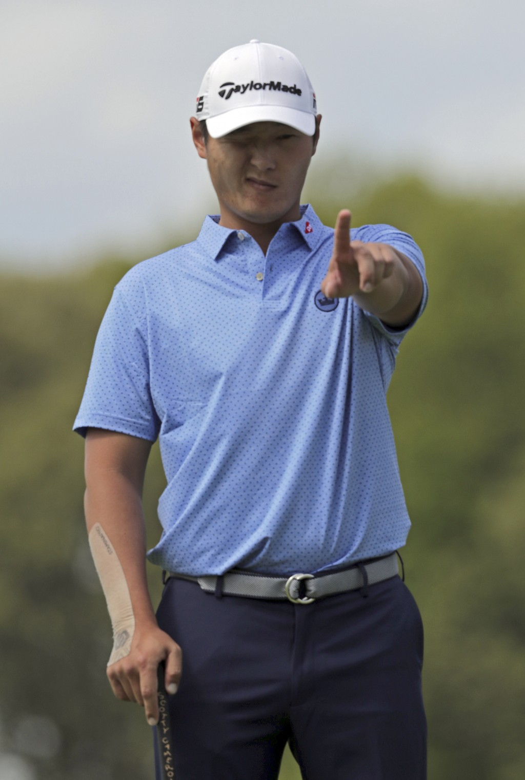 Danny Lee, of New Zealand, lines up a putt on the 11th green during the first round of the PGA Championship golf tournament, Thursday, May 16, 2019, a