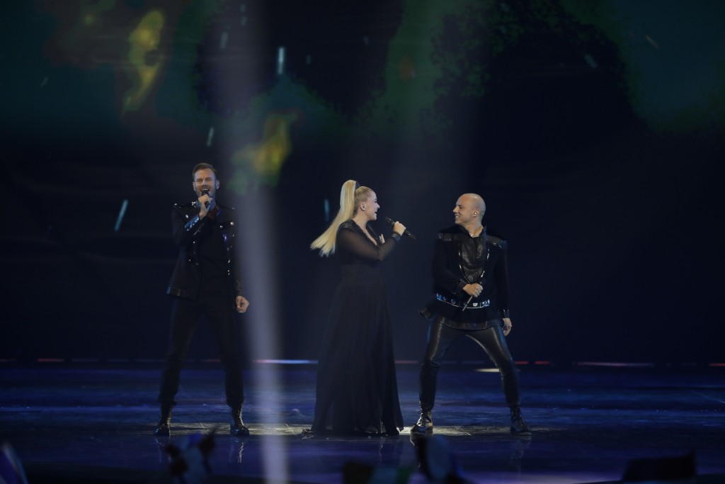 KEiiNO of Norway performs during the 2019 Eurovision Song Contest second semi-final in Tel Aviv, Israel, Thursday, May 16, 2019. (AP Photo/Sebastian S...