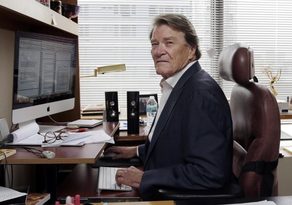 "FILE - This Sept. 12, 2017 file photo shows ""60 Minutes"" correspondent Steve Kroft in his office in New York. CBS says Kroft, 73, will retire from the"
