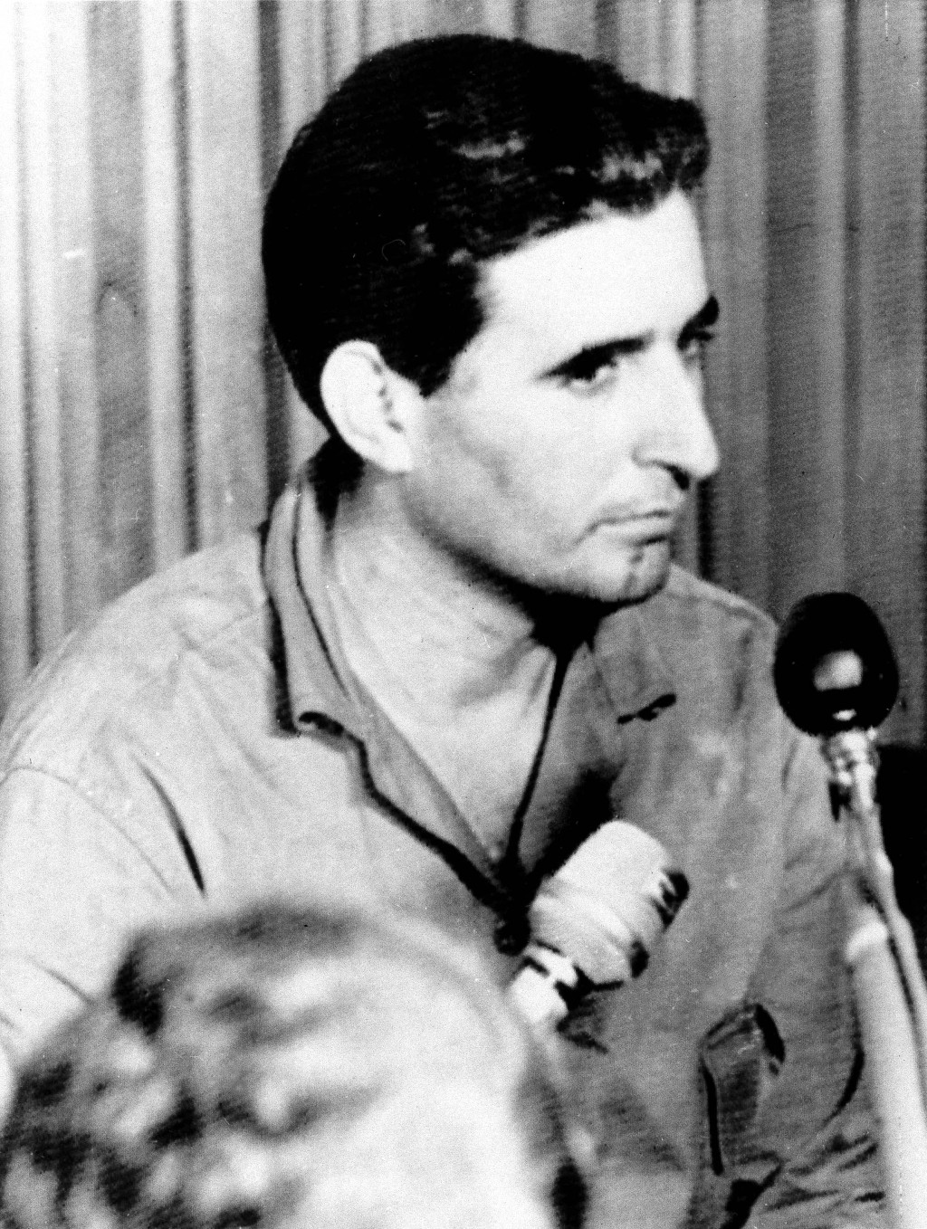 FILE - In this May 12, 1967, file photo, Pedro Cabrera Torres, appears at a news conference in Caracas, Venezuela, after he and others were arrested b