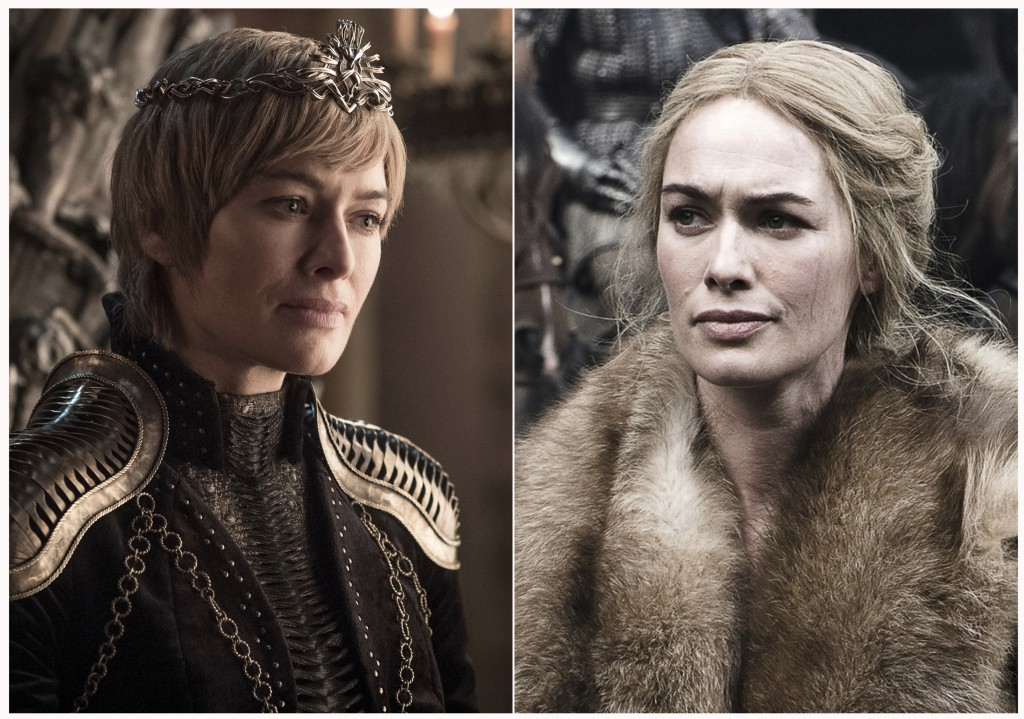 "This combination photo of images released by HBO shows Lena Headey portraying Cersei Lannister in ""Game of Thrones."" The final episode of the popular"