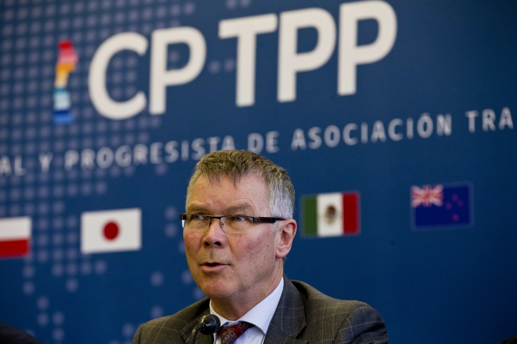 New Zealand's Minister for Trade and Export Growth David Parker speaks during a meeting of the Comprehensive and Progressive Agreement for Trans-Pacif