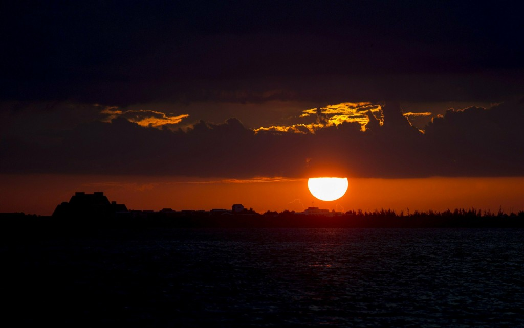 This May 12, 2019 photo shows the sun set in Varadero, Cuba, as seen from the Hotel Blau. Cuba began to open the island to tourists after the collapse