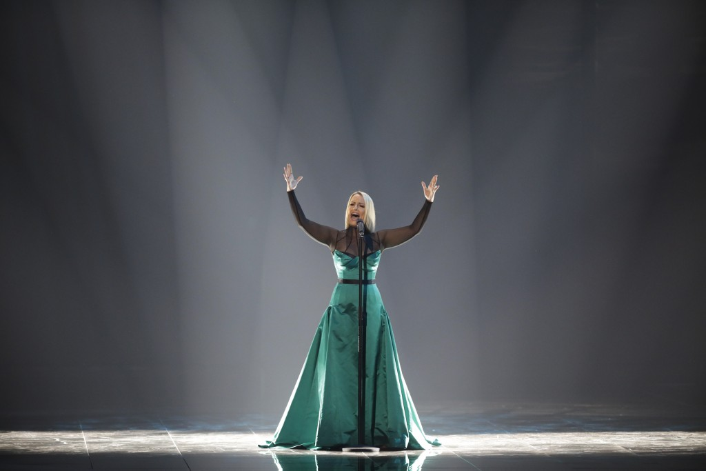 Tamara Todevska of North Macedonia performs during the 2019 Eurovision Song Contest second semi-final in Tel Aviv, Israel, Thursday, May 16, 2019. (AP