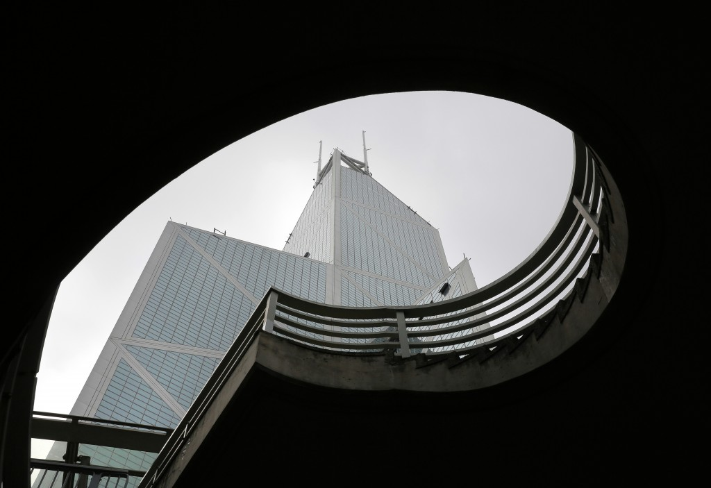 Bank of China Tower, a building designed by architect I.M. Pei, is seen in Hong Kong Friday, May 17, 2019. Pei, the globe-trotting architect who reviv...