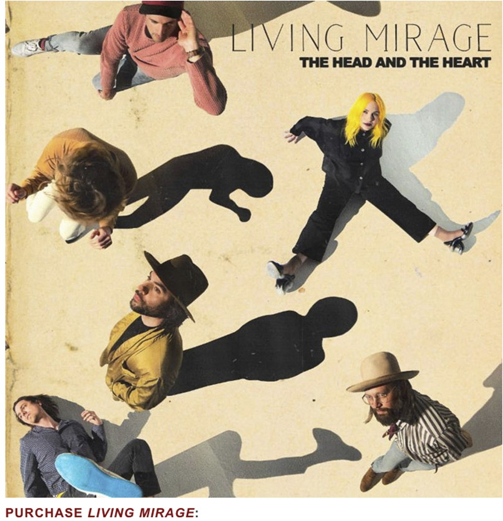 "This cover image released by Warner Bros. Records shows ""Living Mirage,"" the latest release by The Head and the Heart.  (Warner Bros. Records via AP)"