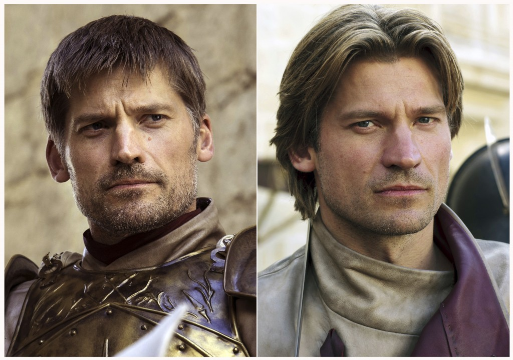 "This combination photo of images released by HBO shows Nikolaj Coster-Waldau portraying Jaime Lannister in ""Game of Thrones."" The final episode of the"