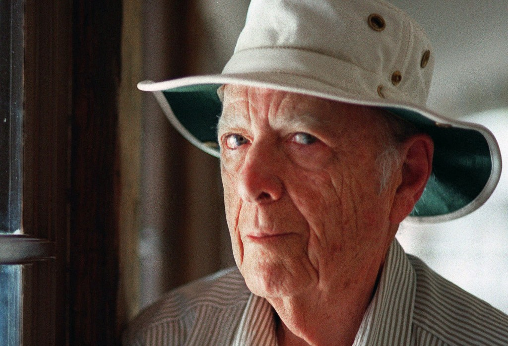 FILE - This May 15, 2000, file photo, shows Pulitzer Prize-winning author Herman Wouk in Palm Springs, Calif. Wouk died in his sleep early Friday, May...