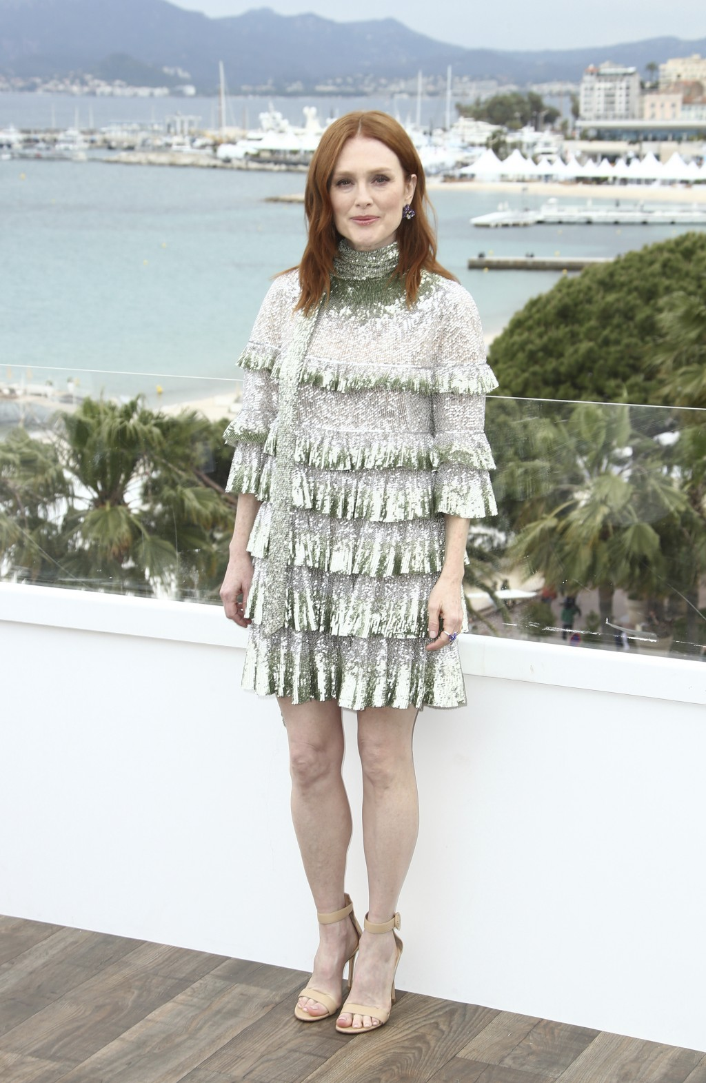 Actress Julianne Moore poses for photographers at the photo call for the film 'The Staggering Girl' at the 72nd international film festival, Cannes, s