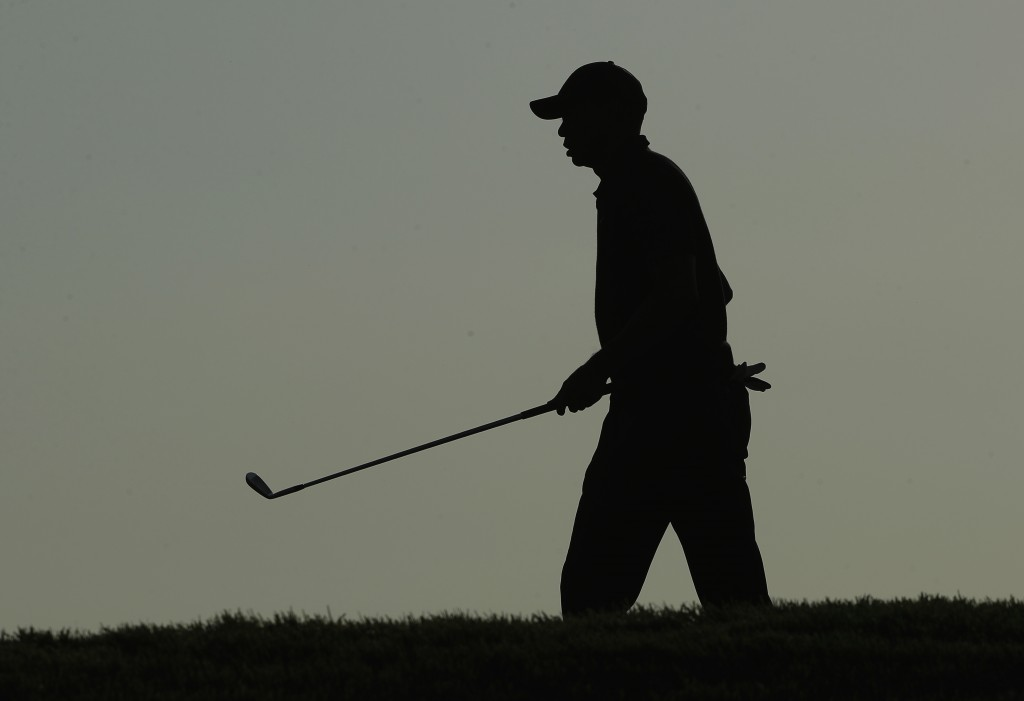 Tiger Woods walks to the 18th green during the second round of the PGA Championship golf tournament, Friday, May 17, 2019, at Bethpage Black in Farmin