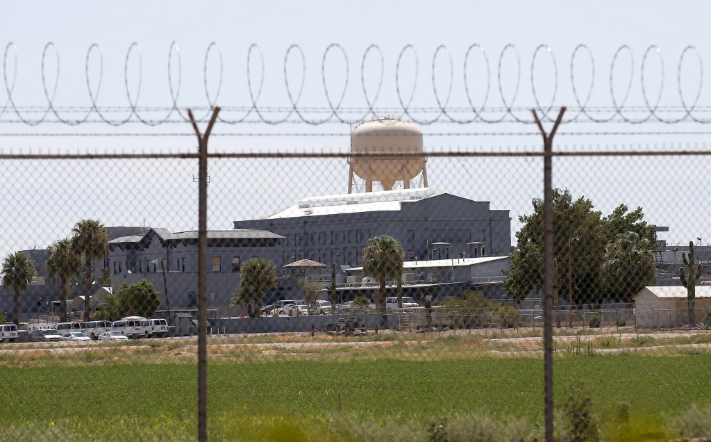 FILE - This July 23, 2014 file photo shows a state prison in Florence, Ariz. A book that discusses the impact of the criminal justice system on black ...