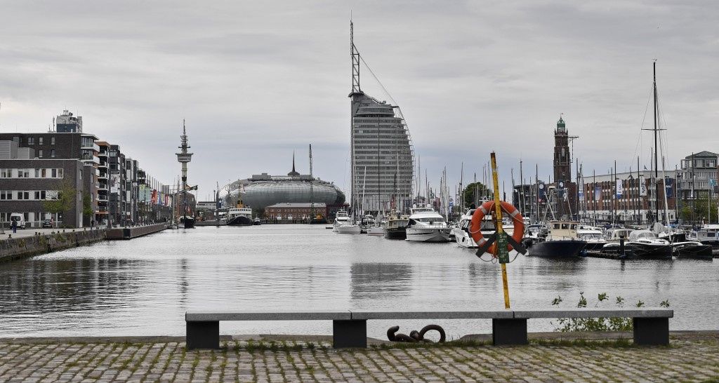 The yacht harbor in Bremerhaven, Germany, is pictured on Thursday, May 16, 2019. The city became a battleground for EU's fragile political center, sup