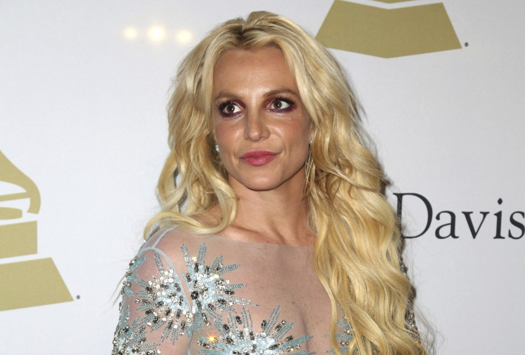 FILE - This Feb. 11, 2017 file photo shows Britney Spears at the Clive Davis and The Recording Academy Pre-Grammy Gala in Beverly Hills, Calif. The co...