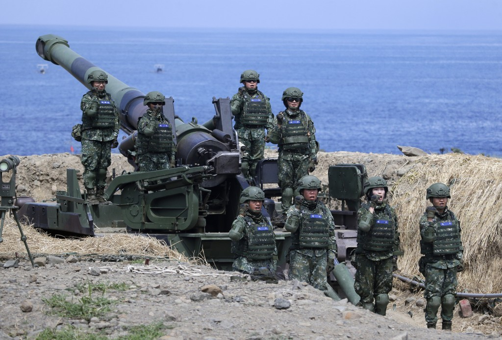 Taiwanese soldiers during live-fire part of Han Kuang exercise in July.