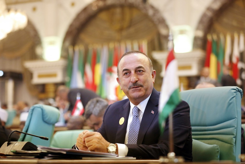 Turkey's Foreign Minister Mevlut Cavusoglu attends Islamic Summit of the Organization of Islamic Cooperation (OIC) in Mecca, Saudi Arabia, early Satur...