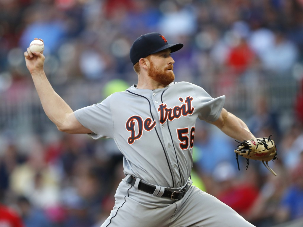 Detroit Tigers starting pitcher Spencer Turnbull works against the Atlanta Braves in the first inning of a baseball game Friday, May 31, 2019, in Atla...