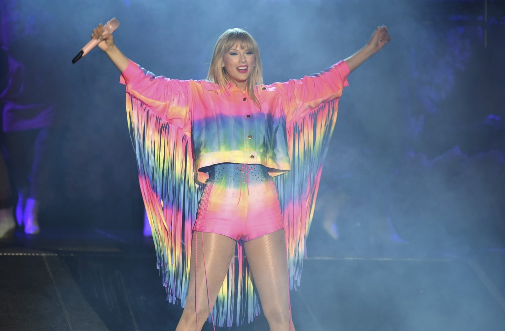 Taylor Swift performs at Wango Tango on Saturday, June 1, 2019, at Dignity Health Sports Park in Carson, Calif. (Photo by Chris Pizzello/Invision/AP)
