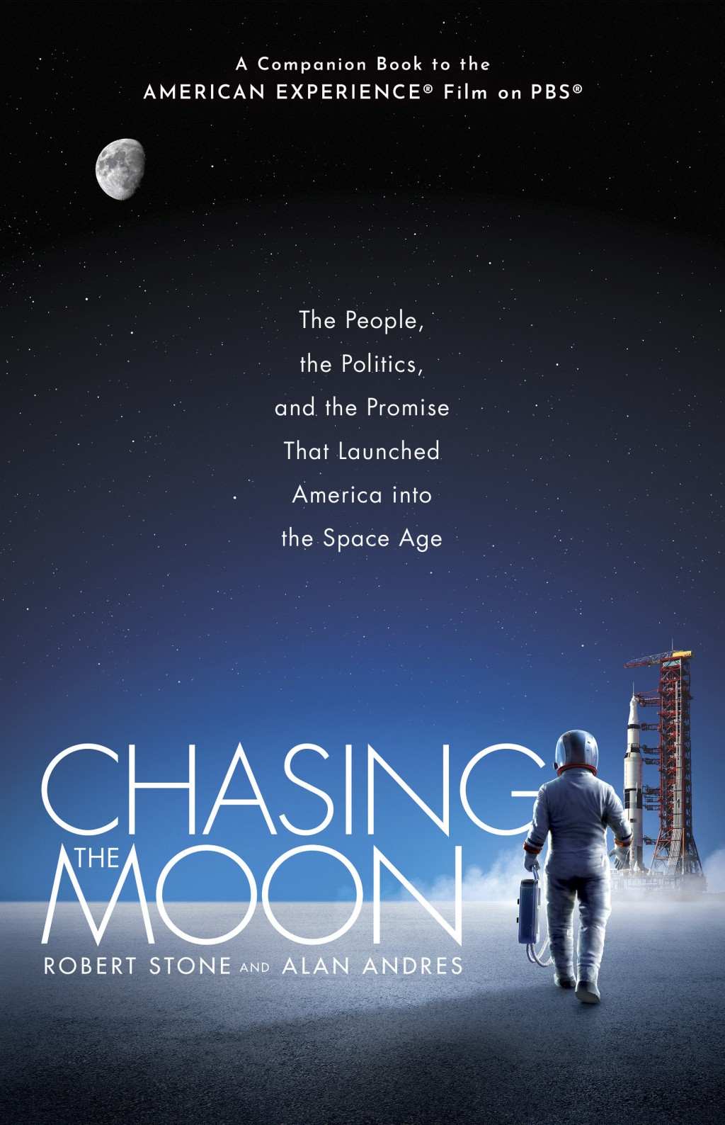 """This cover image released by Ballantine shows """"Chasing the Moon: The People, the Politics, and the Promise That Launched America into the Space Age,"""" ..."""
