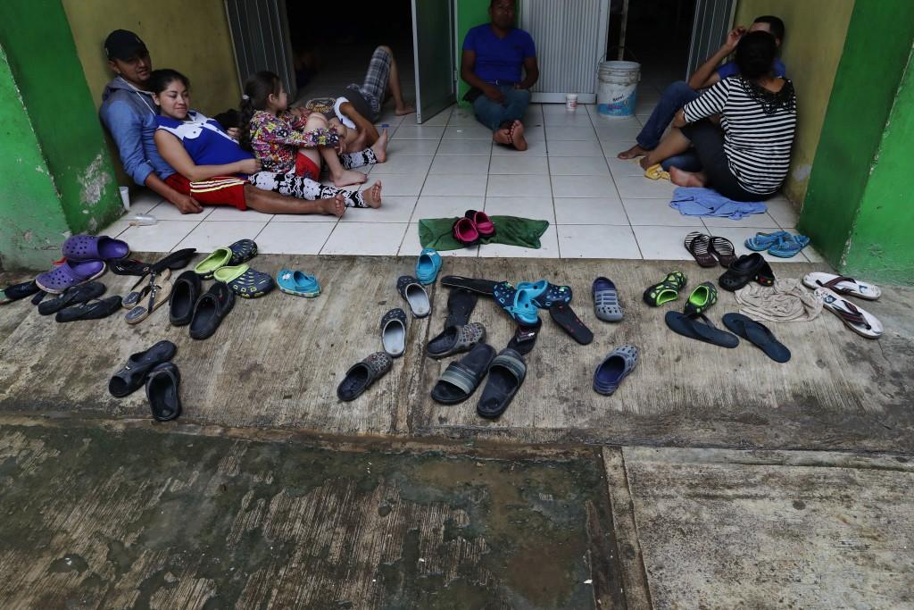 "Central American migrants rest in the shelter ""Jesus del Buen Pastor del Pobre y el Migrante"" in Tapachula, Mexico, Sunday, June 2, 2019. President Do..."