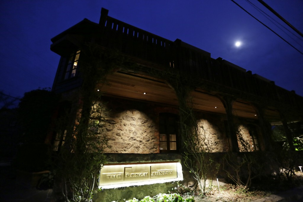 FILE - In this March 9, 2017, file photo, is the French Laundry restaurant in Yountville, Calif. A former employee of celebrated chef Thomas Keller is...