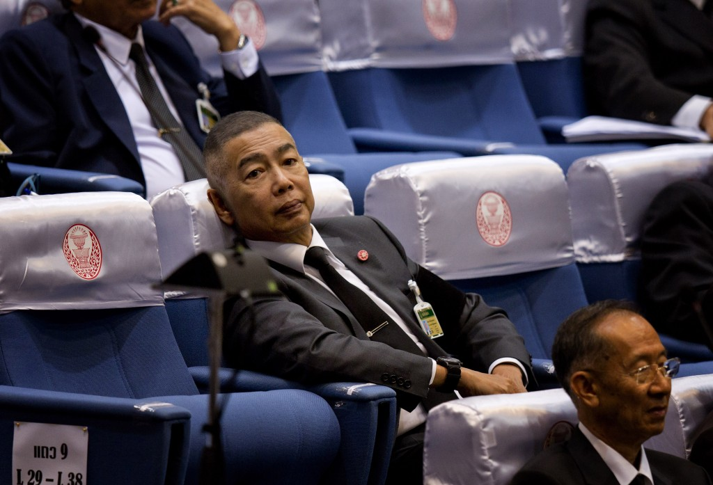 Senator Thai army chief Gen. Apirat Kongsompong participates in a session to choose a new prime minister in Bangkok, Thailand, Wednesday, June 5, 2019...