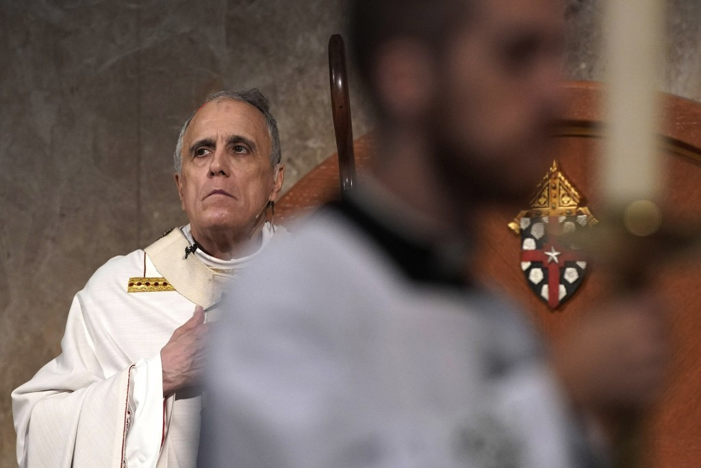 Cardinal Daniel DiNardo presides over a Mass of Ordination for candidates for the priesthood at the Co-Cathedral of the Sacred Heart in Houston Saturd...