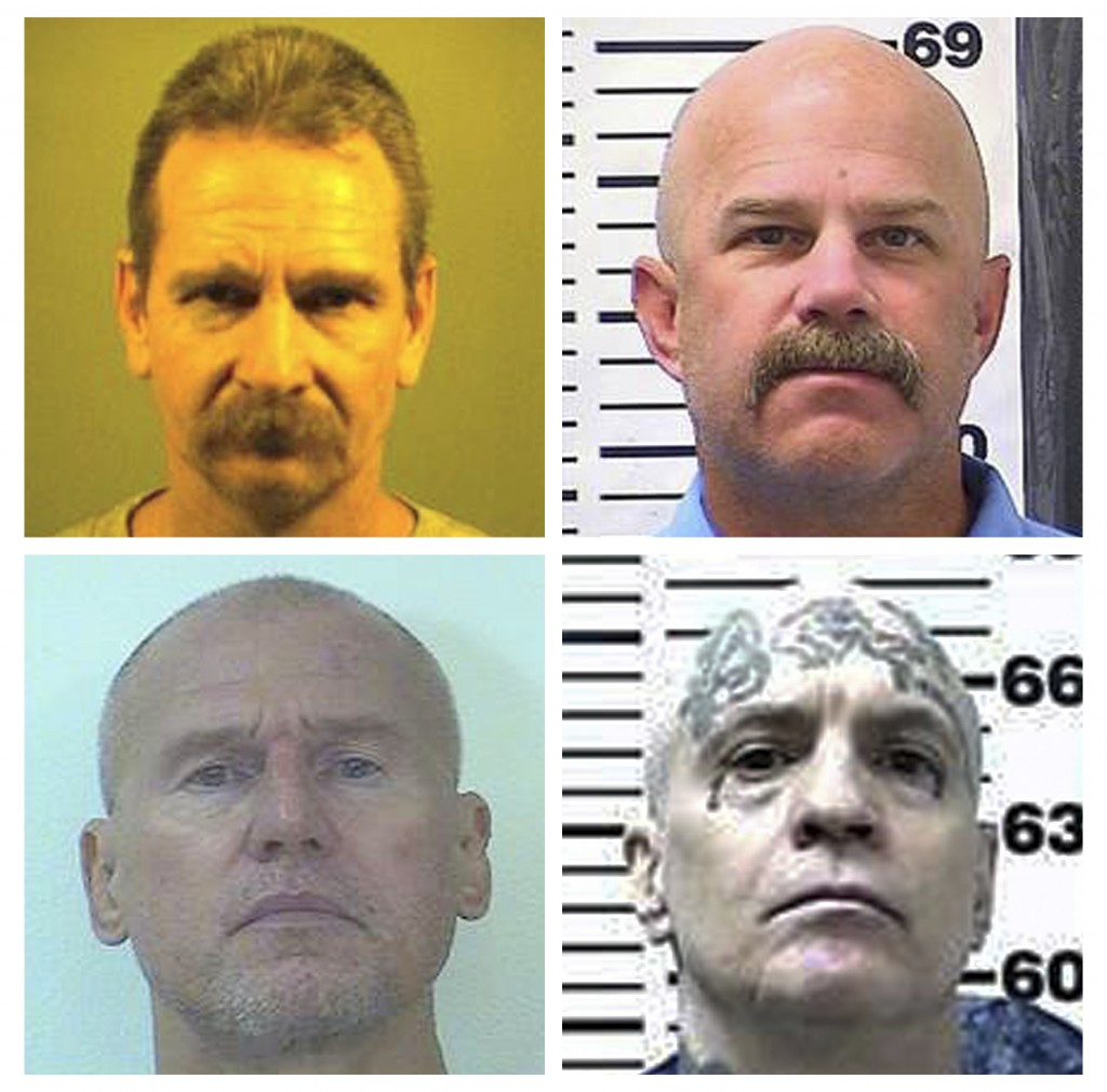 This combination of photos provided by the California Department of Corrections and Rehabilitation shows, top row, Kevin McNamara left, and William Sy...