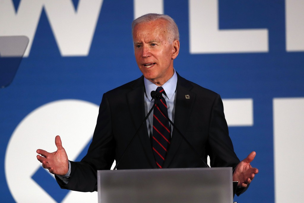 Democratic presidential candidate former Vice President Joe Biden speaks during the I Will Vote Fundraising Gala Thursday, June 6, 2019, in Atlanta. (