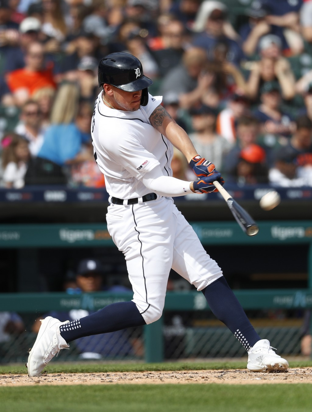 Detroit Tigers' JaCoby Jones hits a three-run home run in the second inning of a baseball game against the Minnesota Twins in Detroit, Saturday, June
