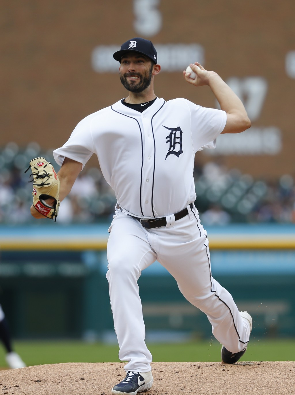 Detroit Tigers pitcher Ryan Carpenter throws against the Minnesota Twins in the first inning of a baseball game in Detroit, Sunday, June 9, 2019. (AP ...