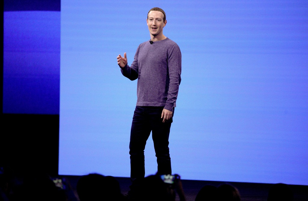 FILE - In this April 30, 2019, file photo, Facebook CEO Mark Zuckerberg makes the keynote speech at F8, Facebook's developer conference in San Jose, C...