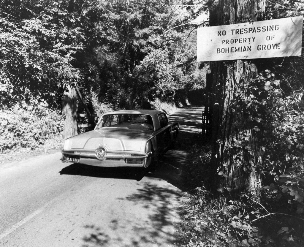FILE - In this July 29, 1971 file photo is the roadway into the exclusive Bohemian Grove, a quiet encampment 80 miles north of San Francisco in Monte ...
