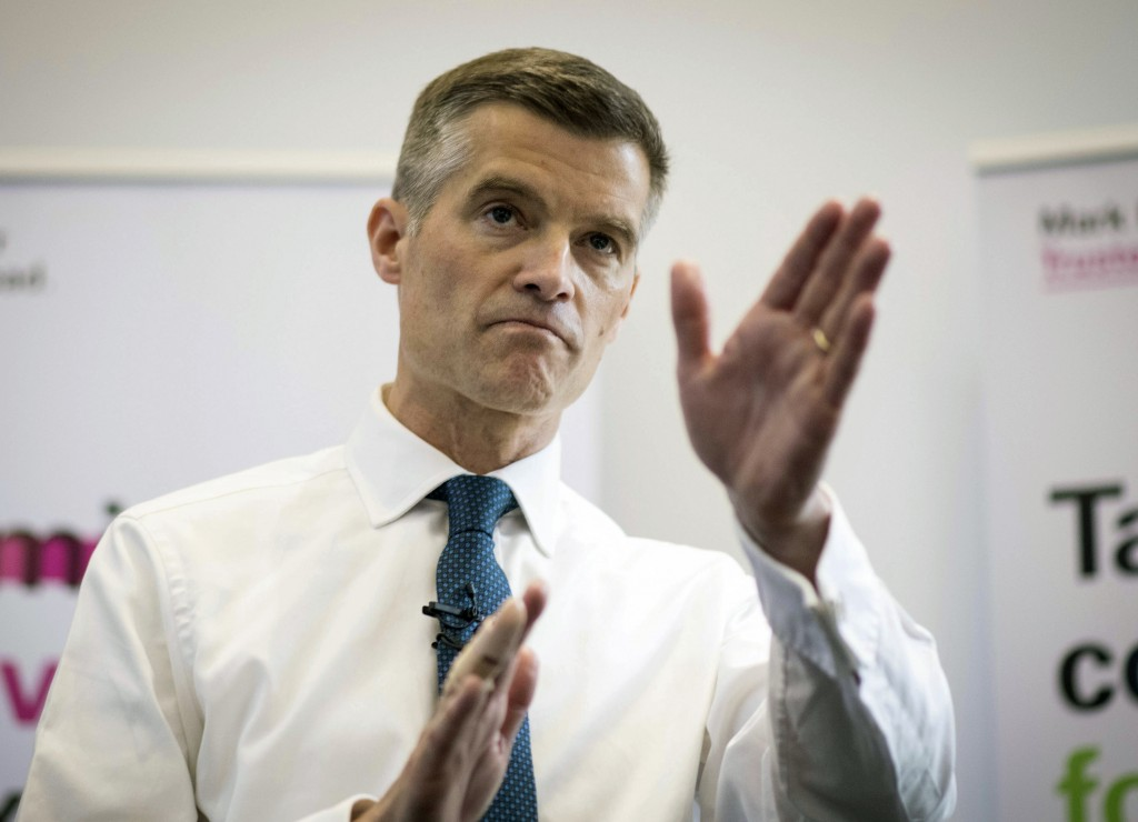 Mark Harper launches his campaign to become leader of the Conservative and Unionist Party during a media conference at the Institute for Mechanical En...