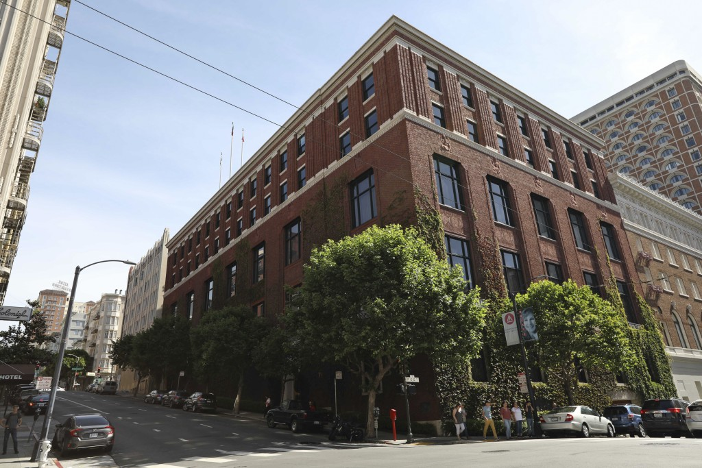 An exterior view is seen of the Bohemian Club's home Monday, June 10, 2019, in San Francisco. An elite Northern California men's retreat hosted by the...