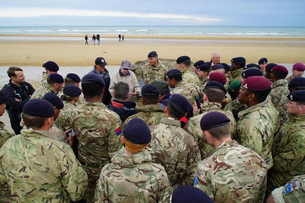 Members of the 12th Regiment, Royal Artillery, gat...