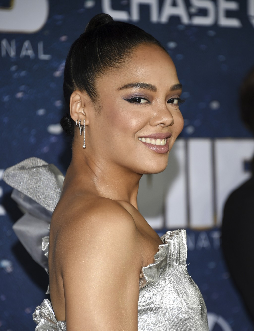 "Actress Tessa Thompson attends the world premiere of ""Men in Black: International"" at the AMC Loews Lincoln Square on Tuesday, June 11, 2019, in New Y"