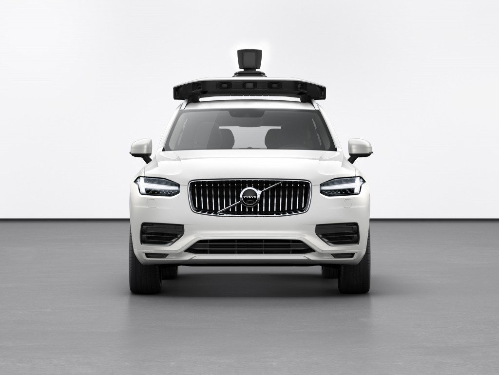 This undated product image provided by Volvo Cars shows the Volvo XC90 SUV. Uber is teaming with Volvo Cars to launch its newest self-driving vehicle....
