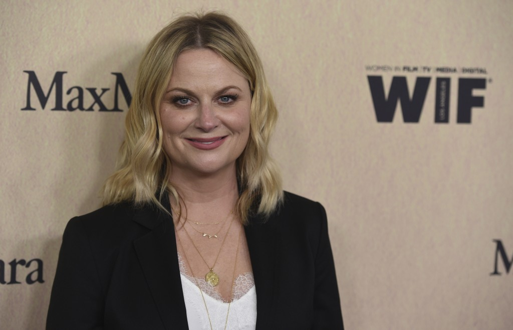 Amy Poehler arrives at the Women in Film Annual Gala on Wednesday, June 12, 2019, at the Beverly Hilton Hotel in Beverly Hills, Calif. (Photo by Chris