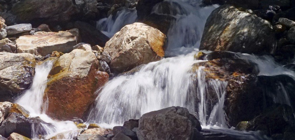 This Monday, June 10, 2019, photo shows mountain runoff, in the Big Cottonwood canyon, near Salt Lake City. The summer's melting snowpack is creating ...