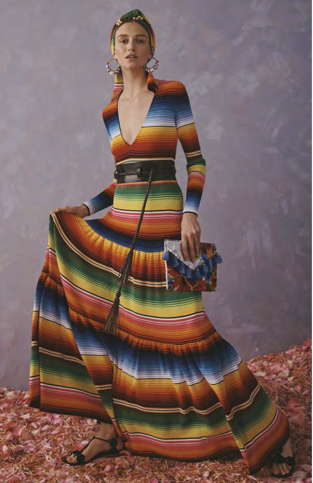 This photo provided by Griffin Marketing and Public Relations and Carolina Herrera shows a model posing for the Carolina Herrera Resort Collection 202