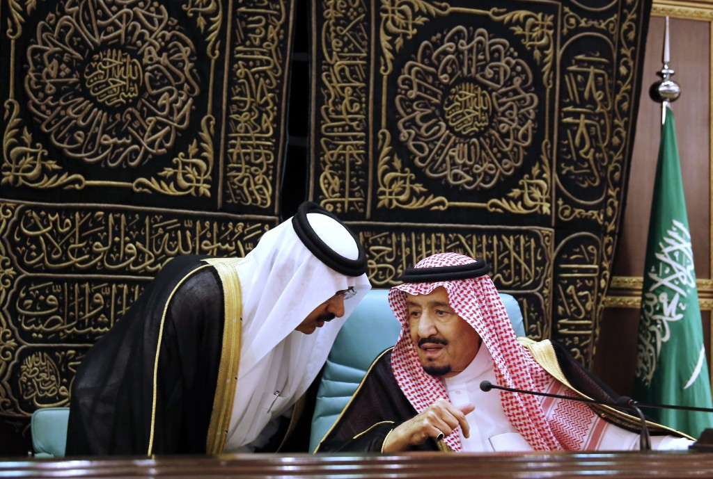 FILE: In this June 1, 2019 file photo, Saudi King Salman chairs the Islamic Summit of the Organization of Islamic Cooperation (OIC) in Mecca, Saudi Ar...