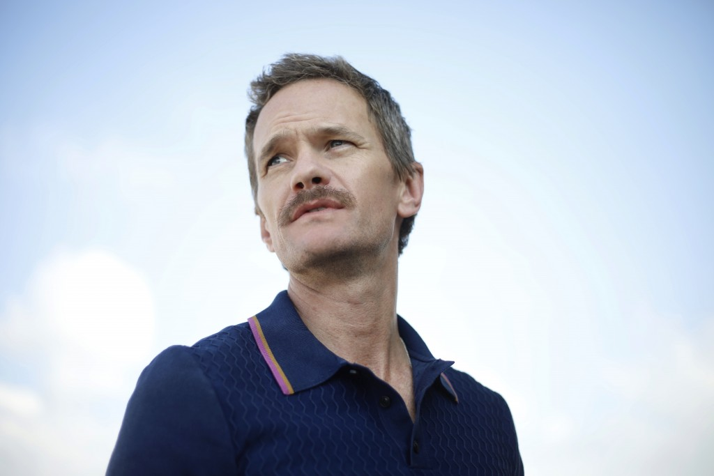 Neil Patrick Harris looks on during an interview with the Associated Press in Tel Aviv, Israel, Wednesday, June 12, 2019. Harris is this year's offici